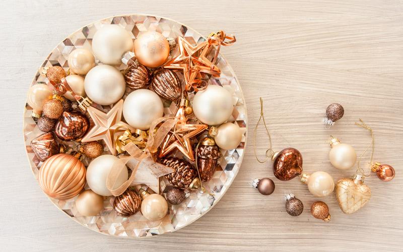 Bronzové vánoční ozdoby