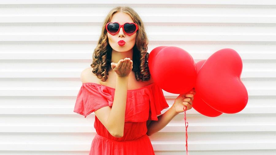 Valentýn a červená barva