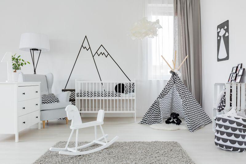 Detský pokoj v severském stylu