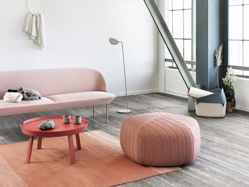 Pouff od značky Mutto v millennial pink