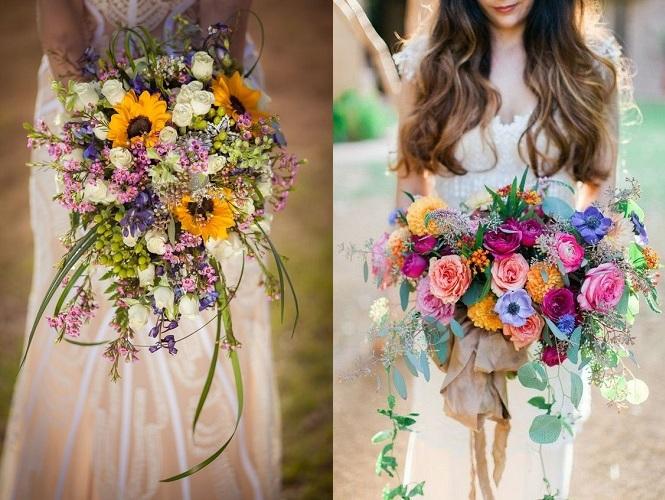 Svatba a boho kytice