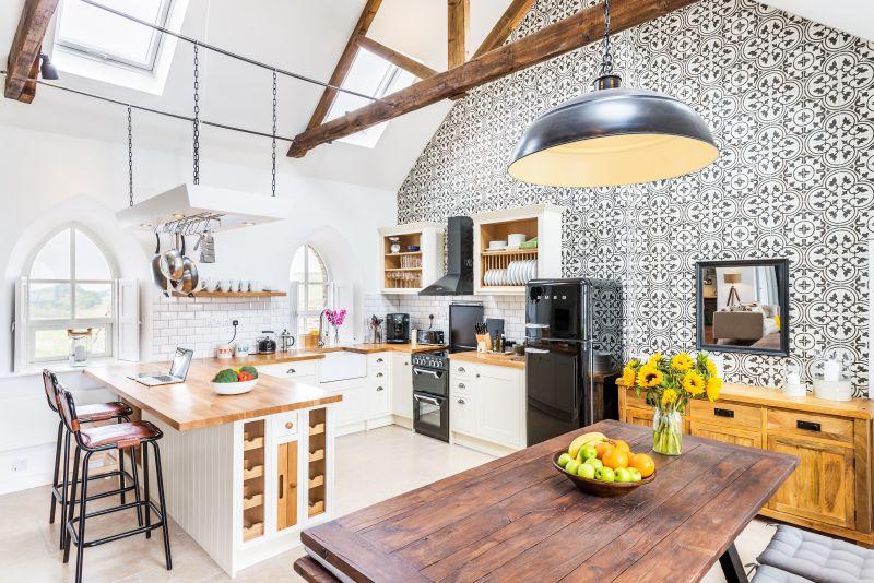 Stylový obývací pokoj s kuchyní