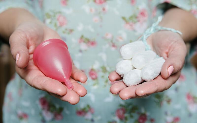 Menstruace tampóny kalíšek
