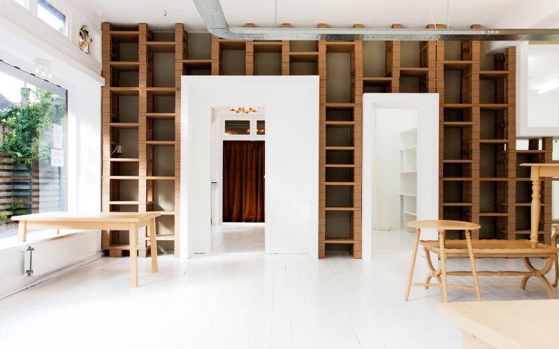 Úložné prostory v obývacím pokoji